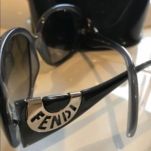 Authentic Fendi grayish blue sunglasses